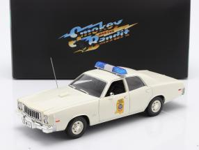 Plymouth Fury Highway Patrol 1975 Smokey and the Bandit 1977 white 1:18 Greenlight