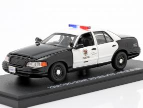 Ford Crown Victoria Police Interceptor 2008 The Rookie black / White 1:43 Greenlight