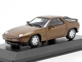 Porsche 928 S year 1979 brown metallic 1:43 Minichamps