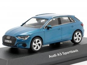 Audi A3 Sportback year 2020 atoll blue 1:43 iScale