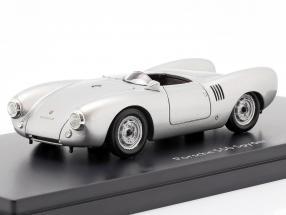 Porsche 550 Spyder year 1954 silver 1:43 Schuco