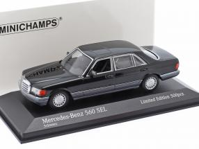 Mercedes-Benz 560 SEL (W126) year 1990 black 1:43 Minichamps