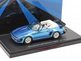 Porsche 911 SE Flatnose Cabrio Baujahr 1988 blau metallic 1:43 AutoCult
