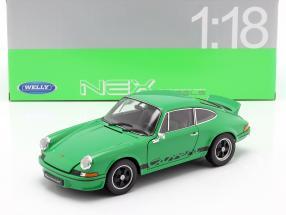Porsche 911 Carrera RS year 1973 green / black 1:18 Welly
