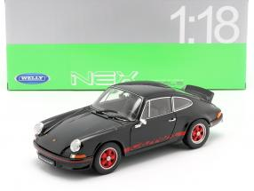 Porsche 911 Carrera RS year 1973 black / red 1:18 Welly
