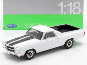 Chevrolet El Camino year 1970 white / black 1:18 Welly