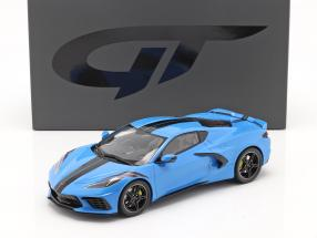 Chevrolet Corvette C8 Construction year 2020 blue / black 1:18 GT-Spirit