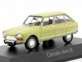 Citroen Ami 8 Club year 1970 calabre yellow 1:43 Norev