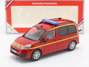 Citroen Berlingo fire Department year 2017 red / yellow 1:18 Norev