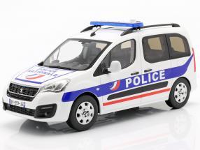 Peugeot Partner Police Nationale year 2017 white / blue 1:18 Norev