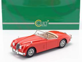Jaguar XK150 OTS Roadster year 1958 red 1:18 Cult Scale