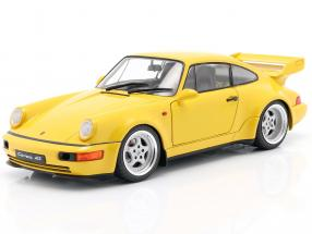 Porsche 911 (964) 3.8 RS year 1990 speed yellow 1:18 Solido
