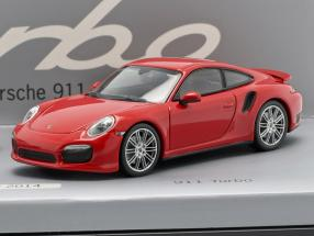 40 Years Porsche 911 Turbo 2-Car Set white / red 1:43 Minichamps