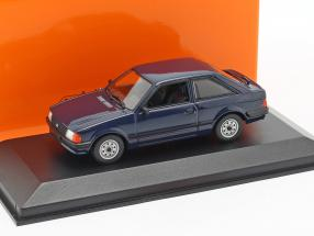 Ford Escort year 1981 dark blue 1:43 Minichamps