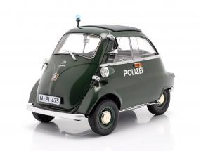 BMW Isetta Export police year 1955 - 1962 dark green 1:18 Schuco