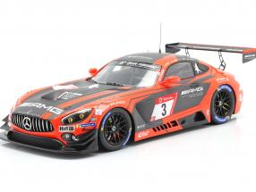 Mercedes-Benz AMG GT3 #3 2nd 24h Nürburgring 2019 Team Black Falcon 1:18 Spark