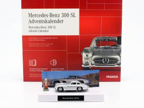 Mercedes-Benz 300 SL advent Calendar 2020: Mercedes-Benz 300 SL silver 1:43 Franzis
