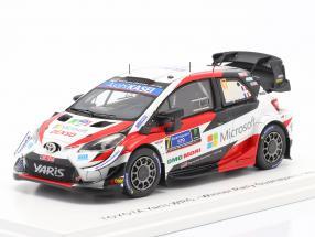 Toyota Yaris WRC #17 Winner Rallye Mexico 2020 Ogier, Ingrassia