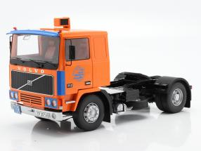 Volvo F12 Truck Deutrans year 1977 orange / blue 1:18 Road Kings