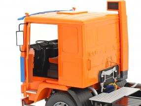 Volvo F12 Truck Deutrans year 1977 orange / blue