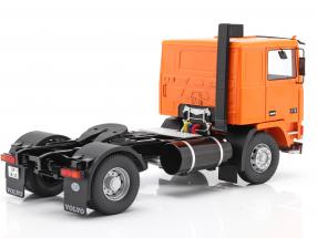 Volvo F10 Truck Deutrans year 1977 orange / black