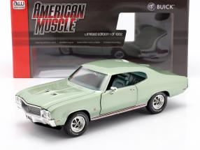 Buick Grand Sport 455 Hardtop year 1970 seamist green 1:18 AutoWorld