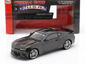 Chevrolet Camaro SS year 2017 grey metallic 1:18 AutoWorld