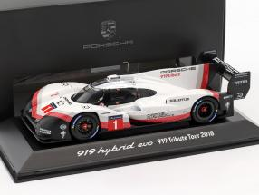 Porsche 919 Hybrid Evo #1 919 Tribute Tour 2018 Signature Edition 1:43 Spark