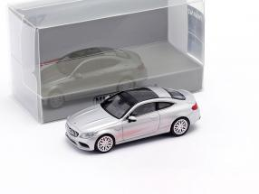 Mercedes-Benz AMG C63 Coupe year 2019 iridium silver metallic 1:87 Minichamps