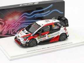 Toyota Yaris WRC #33 Winner Rallye Sweden 2020 Evans, Martin 1:43 Spark