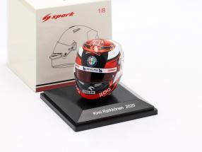 Kimi Räikkönen #7 Alfa Romeo Racing Orlen formula 1 2020 helmet 1:8 Spark