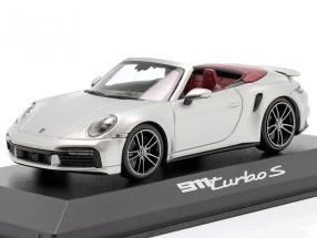 Porsche 911 (992) Turbo S Cabriolet year 2020 silver metallic 1:43 Minichamps