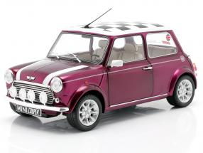 Mini Cooper 1.3i Sport Pack year 1997 purple metallic 1:18 Solido