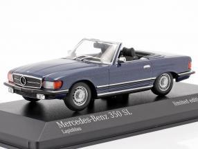 Mercedes-Benz 350 SL (R107) year 1974 blue metallic 1:43 Minichamps