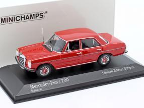 Mercedes-Benz 200D (W114/115) year 1968 red 1:43 Minichamps