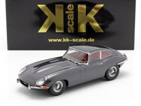 Jaguar E-Type Coupe Series 1 LHD Baujahr 1961 grau metallic 1:18 KK-Scale