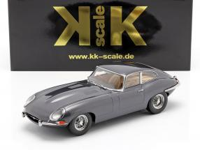Jaguar E-Type Coupe Series 1 RHD year 1961 grey metallic 1:18 KK-Scale