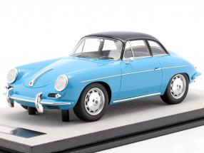 Porsche 356 Karmann Hard top year 1961 gloss light blue 1:18 Tecnomodel