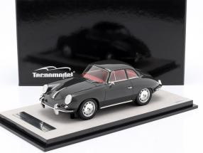 Porsche 356 Karmann Hard top year 1961 gloss dark gray 1:18 Tecnomodel