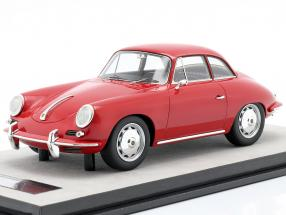 Porsche 356 Karmann Hard top year 1961 gloss red 1:18 Tecnomodel