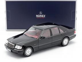 Mercedes-Benz S600 (W140) Baujahr 1997 schwarz 1:18 Norev