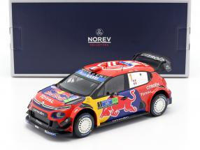 Citroen C3 WRC #1 Winner Rally Mexico 2019 Ogier, Ingrassia 1:18 Norev