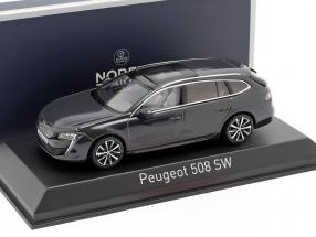 Peugeot 508 SW year 2018 hurricane grey 1:43 Norev