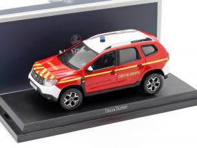 Dacia Duster fire Department Chef de Groupe year 2018 red / yellow 1:43 Norev
