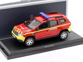 Dacia Duster Feuerwehr Secours Medical Baujahr 2018 rot / gelb 1:43 Norev