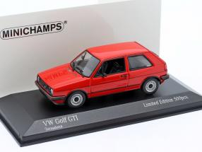 Volkswagen VW Golf II GTi year 1985 tornado red 1:43 Minichamps