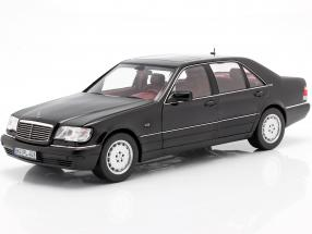 Mercedes-Benz S600 (W140) year 1997 black 1:18 Norev