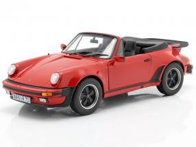 Porsche 911 (930) Turbo Cabriolet year 1987 red 1:18 Norev
