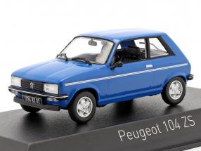Peugeot 104 ZS year 1979 ibis blue 1:43 Norev