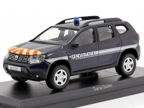 Dacia Duster Gendarmerie year 2018 dark blue 1:43 Norev